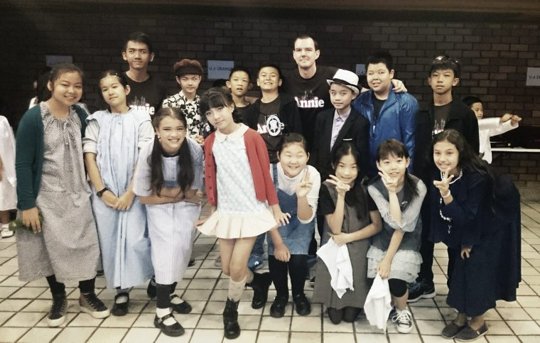 Annie show by Varee EP students and Teacher Daniel at Kad Theatre  musical show time