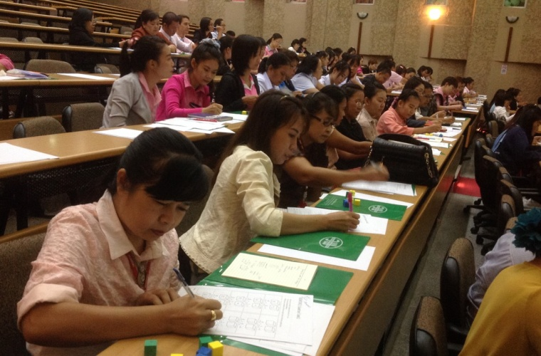 Mathematics teachers workshop in Northern Thailand