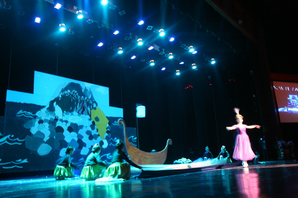 The Tempest school performance Ariel dancing